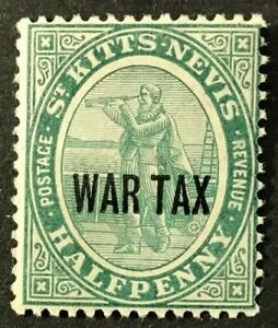 ST.KITTS-NAVIS Sc#MR1 1916 War Tax Mint NH OG VF (17-117)
