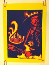 Original Vintage Jimi Hendrix Pin-Up Poster Psychedelic Pro Arts Experienced 70s