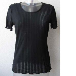 Hanro Lavender Baumwolle T-Shirt Top Hemd Pyjama Top 9326 BLACK XS - L