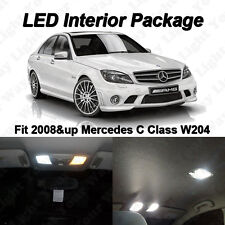 9 x White SMD LED Interior Lights Kit For 2008-2014 Mercedes Benz W204 C250 C300