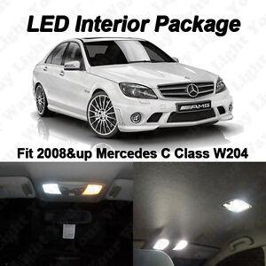 9 x White SMD LED Interior Lights Kit For 2008-2014 Mercedes Benz W204 C250 C300