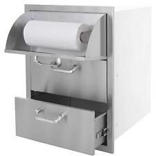 Sunstone 17 Inch Flush Mount Double Drawer & Paper Towel Holder Combo