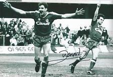 John Aldridge Signed Liverpool Photo 12x8 COA EPS