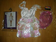 NEW WOMENS SEXY NAUGHTY 2PC WHITE/PINK FAIRY PIXIE HALLOWEEN COSTUME SIZE SMALL