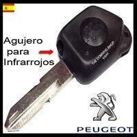 LLAVE PEUGEOT 106 405 306 - 1 BOTON CARCASA MANDO TELEMANDO NUEVO CASE KEY  NEW