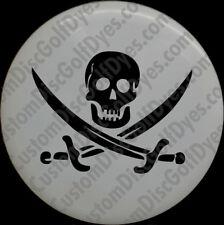 Disc Golf Custom Dye Stencil - Skull and Bones (2 Pack)