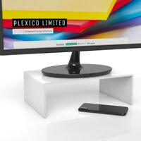 White Computer Monitor Stand / Display Screen Riser W/D/H 250mm x 200mm x 100mm