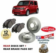 FOR NISSAN CUBE 1.5 DCi + 1.6  2010-> NEW REAR DISCS  SET +  BRAKE DISC PADS KIT
