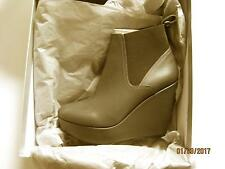 New Robert Clergerie Womens Fille Gray Wedge Boots Shoes 9 Medium & More!