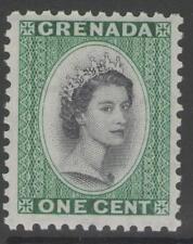 Granada SG193 1953 1c Negro & Profundo Esmeralda estampillada sin montar o nunca montada