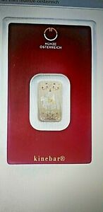 5 Gram Gold Lipizzaner Austrian Mint Bar with fast free shipping