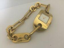 58b71c8fe4f Gucci SWISS MADE Women s 6155L Chain link Yellow gold tone watch