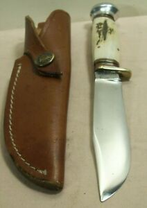 1940s~MARBLES~SAMBAR STAG HUNTING & FIGHTING KNIFE WITH LEATHER SHEATH INCLUDED