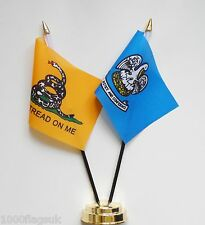 Gadsden & Louisiana Double Friendship Table Flag Set