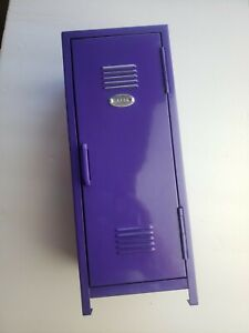 Purple Mini Metal School Locker Kid Storage Toys Decor Kids Room Photo Memories