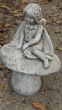 Fée,elfe, en pierre reconstituée,magnifique statue,72 cm de haut