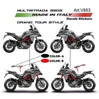 Adesivi Grand Tour Design per fiancate - Ducati Multistrada 950 S dal 2019
