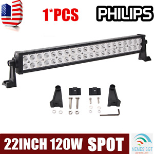 "22''INCH 120W LED Work Light Bar Spot Offroad Pickup Bumper SUV UTE 20"" 24""120W"