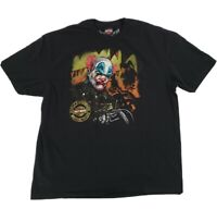 Harley Davidson Clown Joker Black Widow Florida  2 Sided Graphic T-Shirt Men 2XL