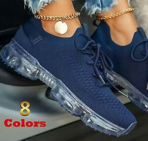 Women Comfy Air Cushion Sneakers Comfort Casual Breathable Vulcanized Shoes