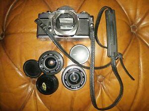 Olympus OM 1 Camera Body + 28mm F1.28 Lens + 35mm F1. 28 Lens