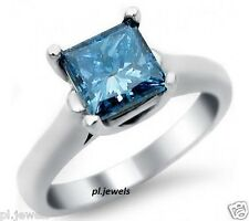 1Ct Solitare Blue Princes Moissanite 925 Sterling Silver Engagement Ring Style48