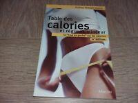 TABLE DES CALORIES ET REGIMES MINCEUR /  Dr PHILIPPE DOROSZ