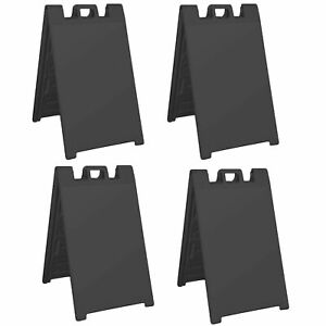 Plasticade Signicade Folding Portable A Frame Sidewalk Store Sign Stand (4 Pack)