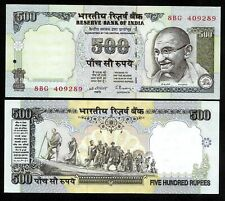 Rs 500/- India Banknote Signed By C.RANGARAJAN BLUE ISSUE GEM UNC