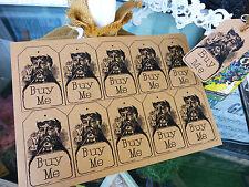 50 x vintage style KRAFT card BUY ME price tags - Large - DIY craft