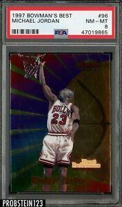 1997-98 Bowman's Best #96 Michael Jordan Chicago Bulls HOF PSA 8 NM-MT