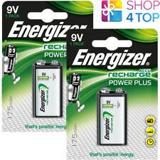 2 ENERGIZER RECHARGEABLE 9V HR22 BATTERIES POWER PLUS NiMH 175mAh E-BLOCK