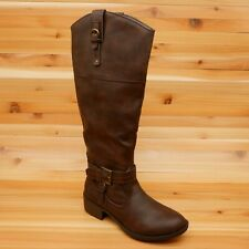 Rampage Womens ivelia Almond Toe Knee High Riding Boots Brown Size 7 M