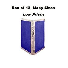 12 Pack - Many Sizes - Ez Flow Ii Spun Fiberglass Furnace Filters Disposable