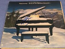 Roger Hodgson Signed Supertramp Even In The Quietest Moments Record Album LP