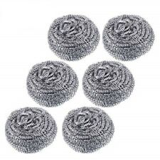 12 Stainless Steel Scourers Scouring Kitchen Cleaning Non Stick Metal Sponge Pan