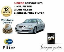 FOR SAAB 9-3 93 1.9 TiD DIESEL 2004-> SERVICE SET OIL AIR FUEL  ( 3 ) FILTER KIT