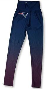 New England Patriots NFL Women's Navy Red Athletic Leggings Yoga Pants: XS-XL