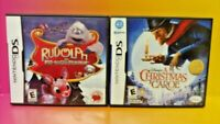 Rudolph + Disney A Christmas Carol  Nintendo DS Lite 3DS 2DS 2 Game Holiday Lot
