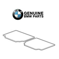 For BMW E60 5-Series Floor Mat Set Rear All Weather Black Rubber 82550305179