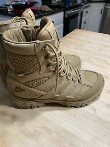 """Men's Merrell 8"""" Moab 2 Tactical Waterproof Boots 9.5 M FREE SHIPPING Coyote"""