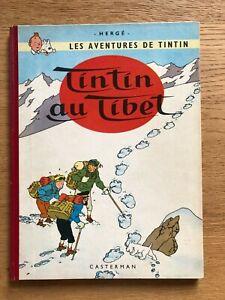 Tintin au Tibet EO Française B29 1960 très bon état