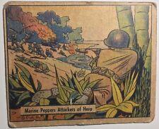 WAR GUM #120 Marine Peppers Attackers of Hero (1942) Gum Inc. non-sport card