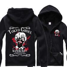 Tokyo Ghoul Kaneki Ken Cotton Hoodie Zip-up Sweatshirt Coat Jumper Tops Jacket