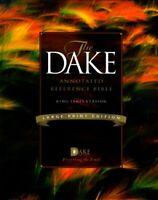 Dake Annotated Reference Bible-KJV-Large Print by Finis Dake