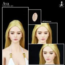 WONDERY 1/6 Ep01 Ava Elf Girl  Head Sculpt Removable Ears F Female Figure Doll