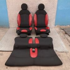 BMW Mini Cooper Uno 2 R56 Sports Medio Cuero Interior Rojo Asientos con Airbag