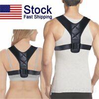 Body Wellness Posture Corrector Adjustable Back Shoulder Support Brace Belt  XL