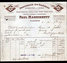 """NANTES (44) DROGUERIE DU CHATEAU / PRODUITS LA COMETE """"Paul MARTINETTY"""" en 1915"""