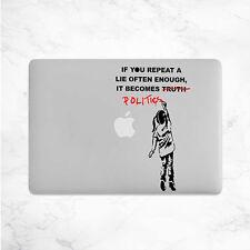 Banksy Girl Politics Decal for Macbook Pro sticker vinyl air mac 13 15 11 laptop